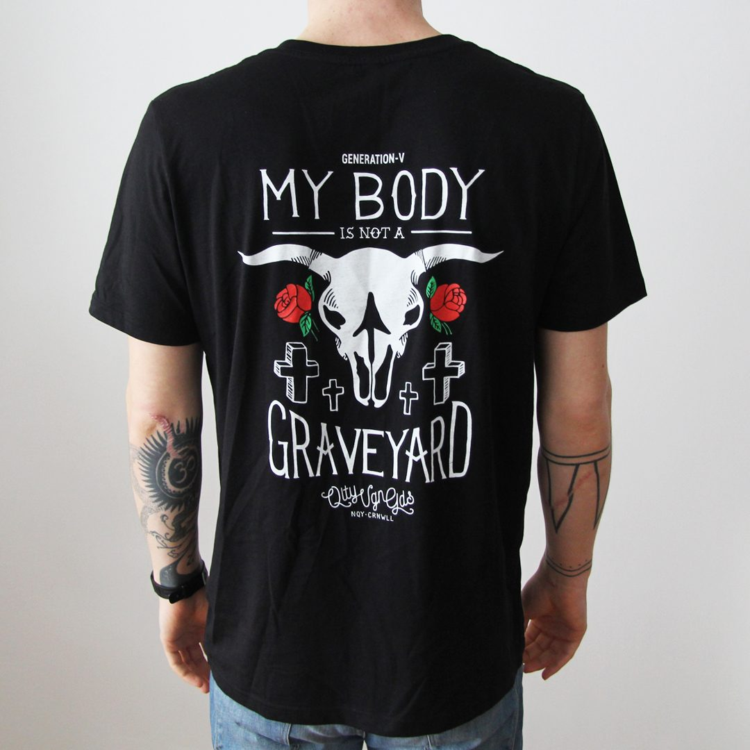 Generation-V Graveyard Black Tee Back Male
