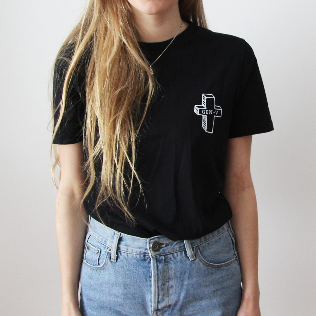 Generation-V Graveyard Black Tee Front Female