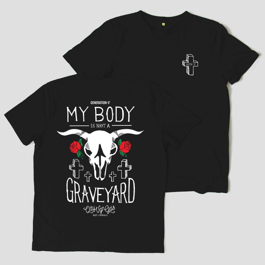 Generation-V Graveyard Black Tee Front&Back