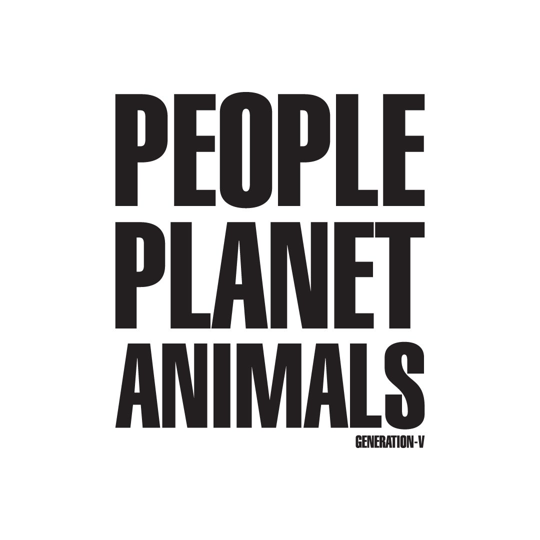 Generation-V People Planet Animals A4 Vegan Poster 1080x1080