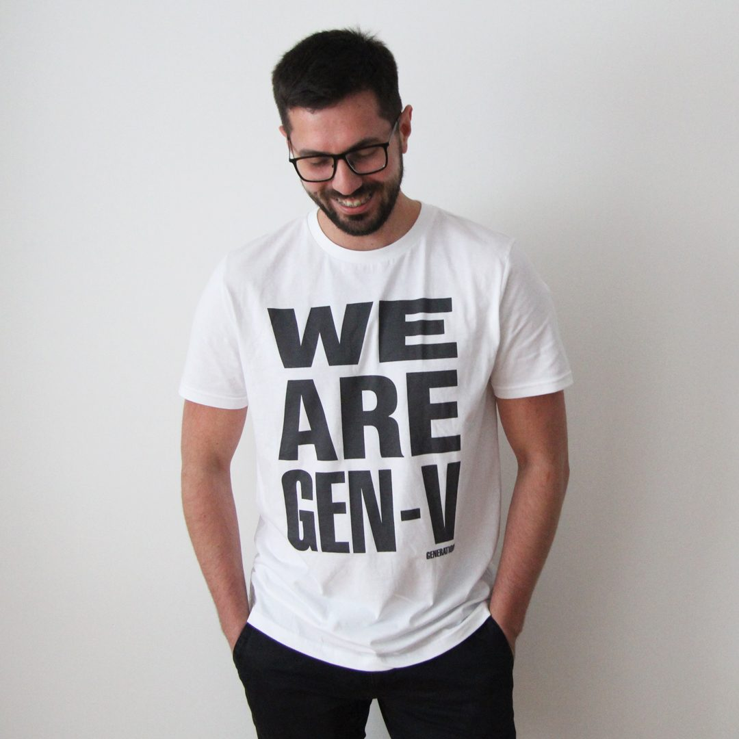 Generation-V WeAreGen-V White Tee Chris