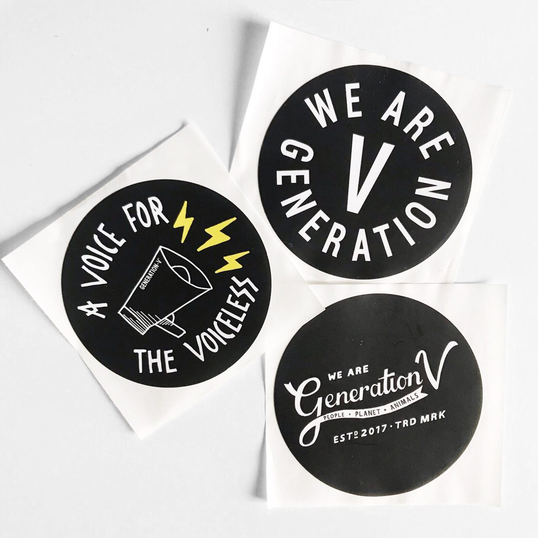 Generation-V Vegan Sticker Set New 3 Circle No Packaging EDIT