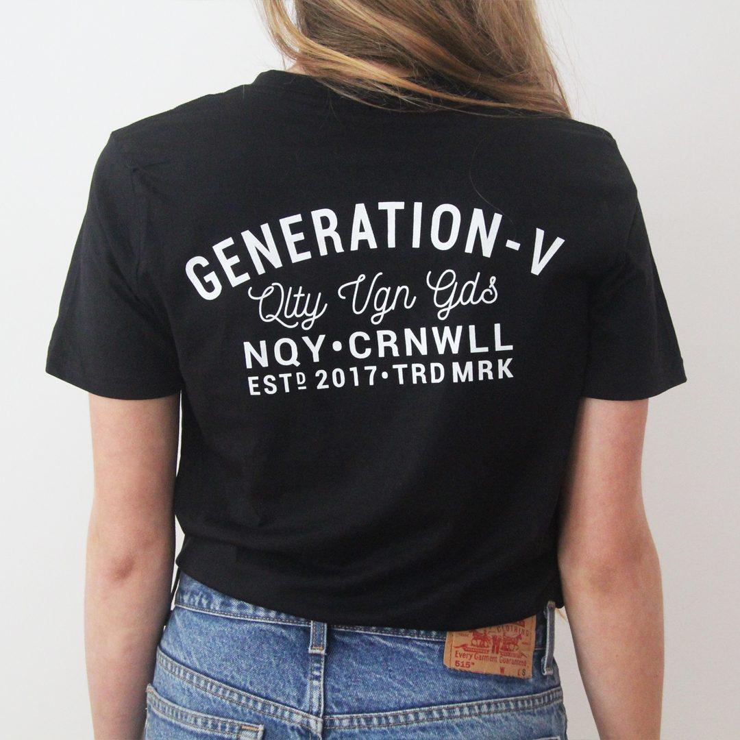 Generation-V Brand Black Tee Back Female