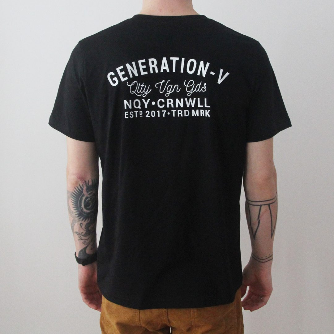 Generation-V Brand Black Tee Back Male1
