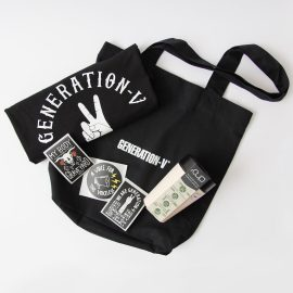 Generation-V Vegan Clothing Vegan tshirt vegan stickers vegan tote bag rCUP Bundle