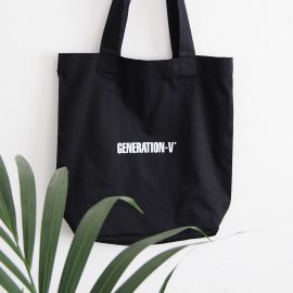 Generation-V Vegan Tote bag black